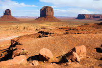 Monument Valley is unique geological formation