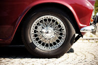 detail of a oldtimer. nostalgic rim – wheel.