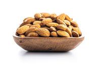 Peeled almonds nuts.