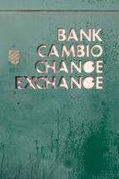 Money Exchange Sign