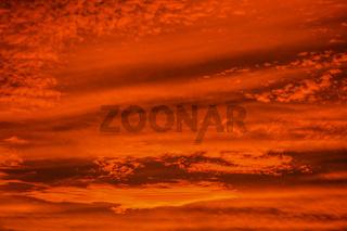 Fire in the sky sunset. Over Glendale, Maricopa County, Arizona