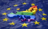 Europe LGBT with EU flag