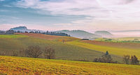 Hegaulandschaft mit Hohentwiel und Rosenegg