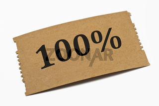 100 Prozent | 100 percent