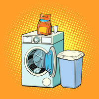 washing machine and washing powder