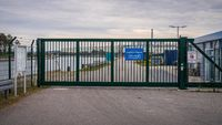 The entrance to the Port in Lubmin, Mecklenburg-Western Pomerania, Germany