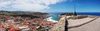 Panoramaaussicht von der Burg Castelsardo - Sardinien