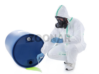 Dangerous chemical leak sampling