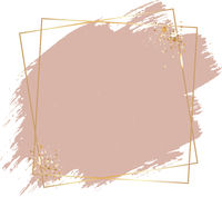 Pink Paint With Golden Frame White Background