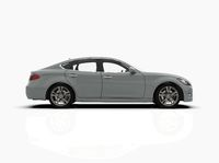 Generic and Brandless Car Isolated on White 3d Illustration