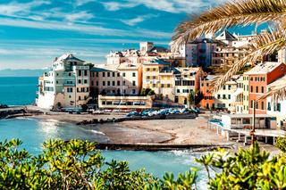View of Bogliasco. Bogliasco is a ancient fishing village in Italy
