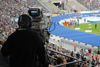 Kameramann im Stadion
