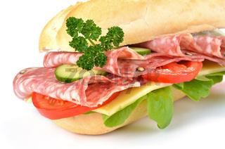 Sandwich mit italienischer Salami
