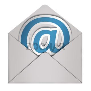 umschlag mit email-sign