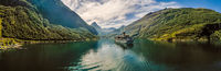 Geiranger fjord, Beautiful Nature Norway.