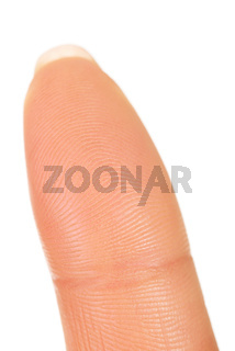 Macro view of a finger
