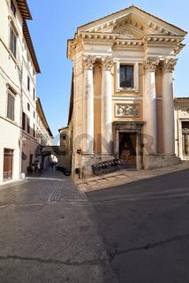 Spoleto Umbria Italy. Sant'Ansano church