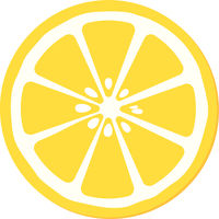 simple yellow and white slice of lemon