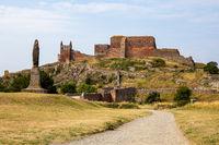 Ruins of Hammershus Castle on Bornholm, Denmark