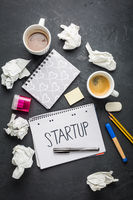 Startup concept - Notepad