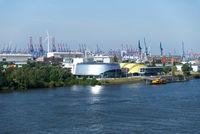 Hamburg, Elbinsel Steinwerder, Norderelbe, Harbor, Germany