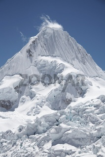 Peak Alpamayo in the Cordillera Blanca