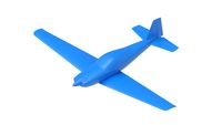 3D rendering of a small airplane outline computer model isolated on white background .