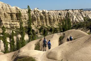 Wanderung in der Tuffsteinlandschaft nahe Uchisar