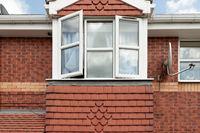 The facade of a typical English house