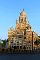 Chhatrapati Shivaji Terminus also known by its former name Victoria Terminus, Mumbai, India. Architecture is Italian Gothic style