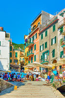 Street by the sea  in Riomaggiore