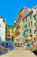 Street by the sea  in Riomaggiore