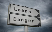 Loans, Danger road sign.