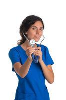 Doctor nurse with stethoscope
