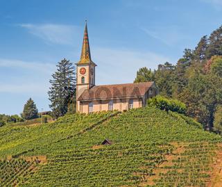 Evangelische Kirche Buchberg-Rüdlingen, Kanton Schaffhausen, Schweiz