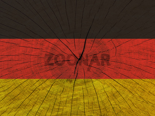 German flag on wooden surface. German flag on textured background