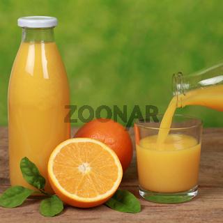 Orangen und Orangensaft