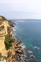 View of the cliffs of Barbate on the Costa de la Luz in Andalusia in southern Spain