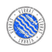 Virrat city postal rubber stamp