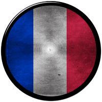 french metallic button