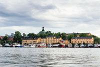 Waterfront of the island of Skeppsholmen in Stockholm