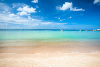 Sandy beach and beautiful tropical sea. Koh Tao