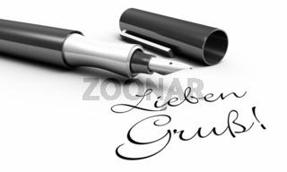 Lieben Gruß! - Stift Konzept