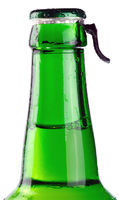Beer bottle isolated on white
