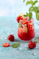Summer berry refreshing drink.