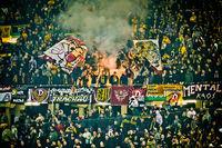 Fans Dynamo Dresden mit Pyrotechnik