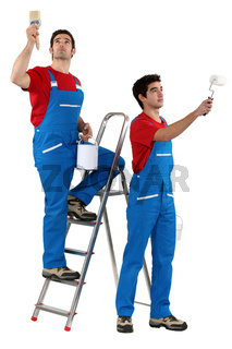 craftsman and apprentice painting