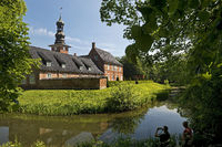Castle in front of Husum, Husum, North Frisia, Schleswig-Holstein, Germany, Europe