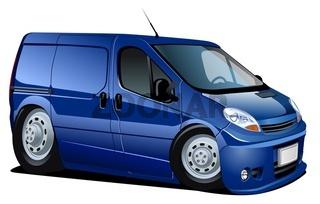 cartoon delivery / cargo van