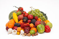 Mixed fruits and vegetables